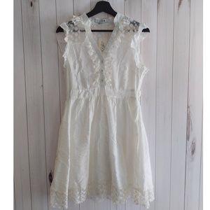 Nwt Forever 21 White Shirt Length Dress